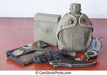 Survival tools - Assortment of survival hiking gear...