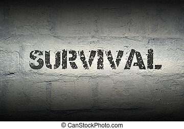 survival WORD GR - survival stencil print on the grunge...