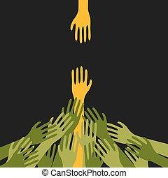 Survivor Human Hand