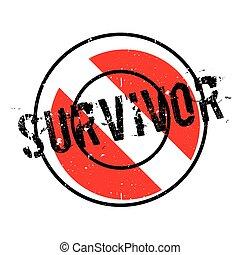 Survivor rubber stamp