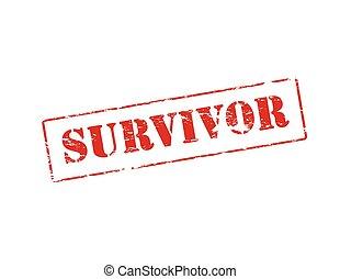 Rubber stamp with word survivor inside, vector illustration