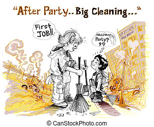 Survivors children big cleaning clear all