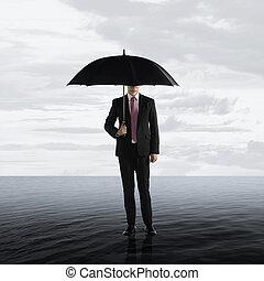 survivre, concept, crise, business
