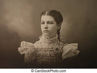Susan - Victorian photograph of young woman girl