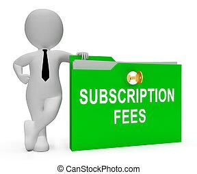 suscripción, honorario, plan, registro, precio, 3d, interpretación