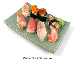 Sushi - A plate of nigiri sushi
