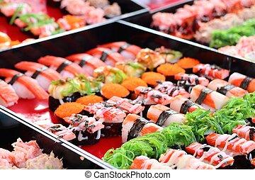 Sushi at street food