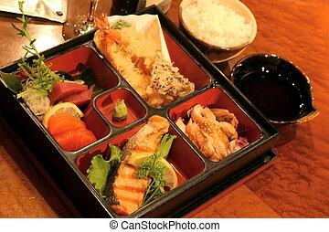 sushi, bandeja