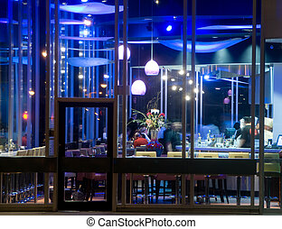 Sushi Bar at Night