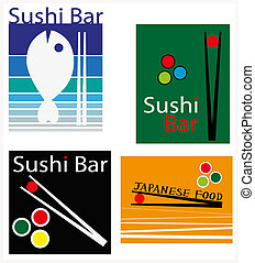 illustration set suitable to Japanese cuisine