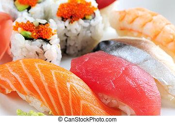 sushi, californie, rouleaux