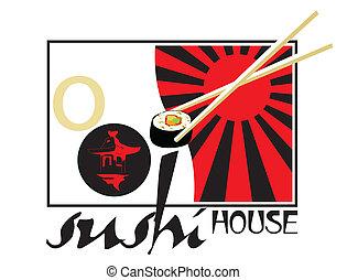 sushi, casa