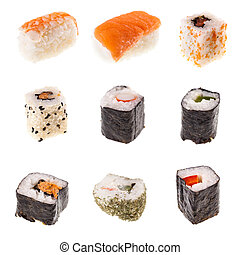 Sushi collection - a collection of different types of Sushi ...