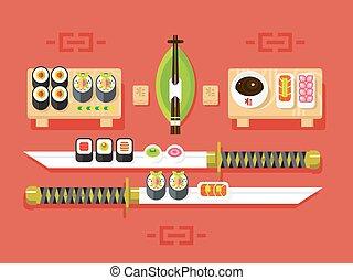 sushi, cuisine japonaise