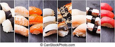 sushi de nigiri, conjunto