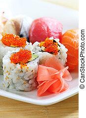 sushi, e, california, in crosta