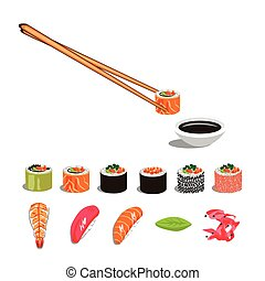 sushi, ensemble