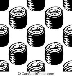 Sushi food seamless pattern