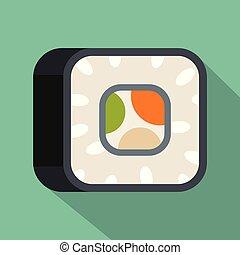 Sushi icon, flat style