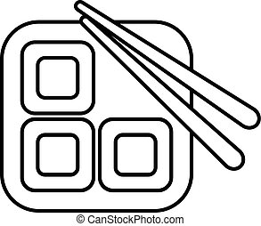 Sushi icon, outline line style