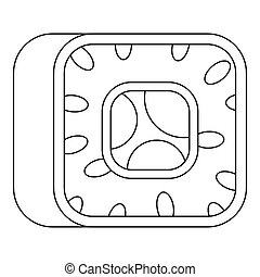 Sushi icon, outline style.