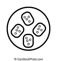 sushi icon vector illustration photo
