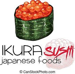 sushi., ikura