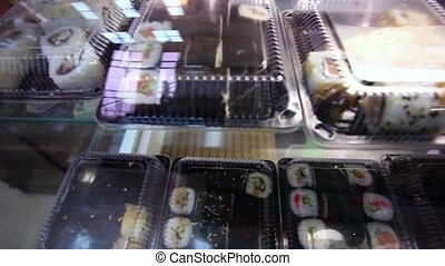 Sushi in fresh market.