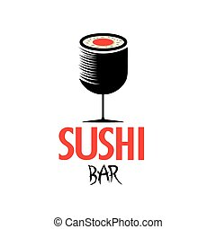 sushi in the form of wineglass