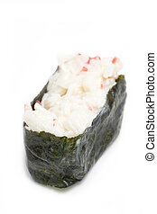 Sushi isolated on white.
