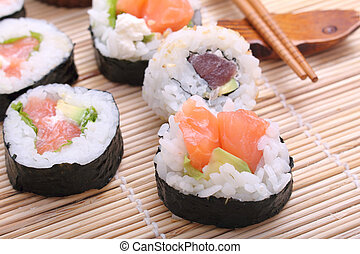 sushi, japan traditional food roll