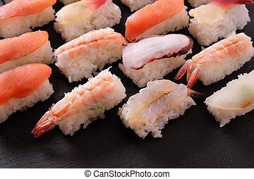 Sushi japanese food platter assortment