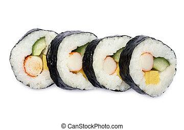 sushi, japansk, rulle