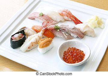 sushi, komplet
