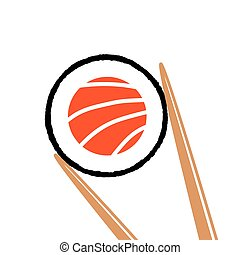 Sushi logo, vector