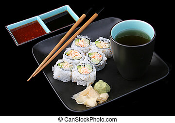 Sushi Meal on Black