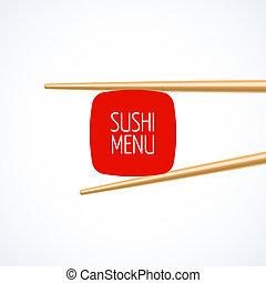 Sushi menu cover template - Sushi menu