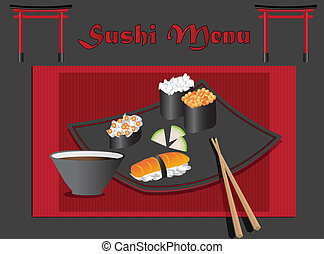 sushi, menu