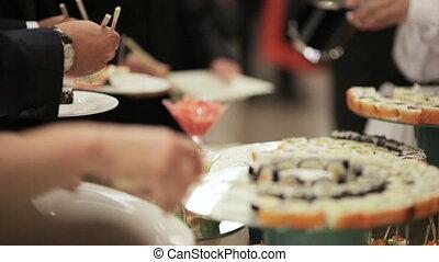 Sushi on holiday reception