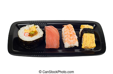 sushi, piastra