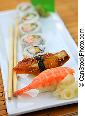 sushi, piatto da portata