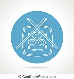 Sushi plate blue vector icon