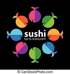 sushi, restaurant, barre
