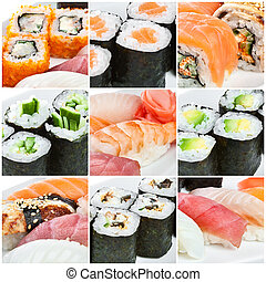 Sushi Roll - Japanese Cuisine - Sushi Roll. Traditional...