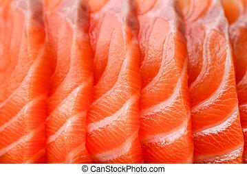 sushi, salmon