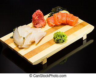 sushi, sashimi