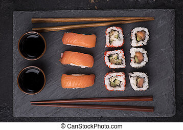 Sushi set from above