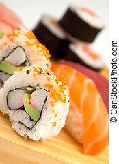 sushi, skål