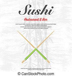 sushi, tapet, restaurang