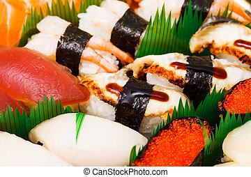 Sushi , traditional japanese food
